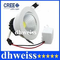 5W 7W 9W 12W Yes LED CREE cob 5W 7W 9W 12W Dimmable Led Ceiling Light Round White Shell Led Downlights Ultra Bright Led Cabinet Lamps AC110-240V Free Delivery