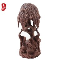black forest wood carving - Red sandalwood forest elephant Zhaocai like wood carving decoration new mahogany wood animal elephant elephant feng shui ornaments