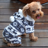 Wholesale Dogs Clothes Shoes - Fall Winter Pet clothes.Dog Cat dress. Pet Dog Hoodie Costume Clothes Jacket Coat Puppy. Dog clothing Hoodie coverall-4 clour