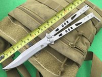 Wholesale Bowie Original - 2016 High End The One Tachyon III Bowie Knife 440C Blade Stonewash Handle BM Butterfly Balisong Knives New In Original Box F58L