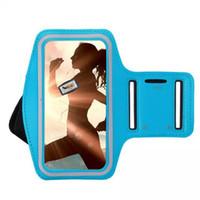porta de telefone à prova d'água venda por atacado-Braçadeira esportes titular do telefone móvel saco de corrida ao ar livre para iphone 6 s 6 7 plus à prova d 'água noite correndo arm band case para iphone 7