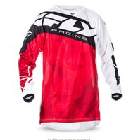 Wholesale Bmx Jersey Xl - 2017 Motocross jersey moto MX Motocross MTB BMX 2017 Kinetic Jersey (Red White) 2X-Large cycling jerseys