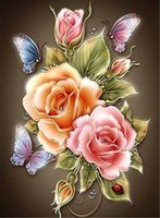 Wholesale Peony Crafts - DIY 5D Full Diamond peony Diamonds Embroidery Diamond Painting Cross Stitch Home Decoration Handmade Crafts Hobby
