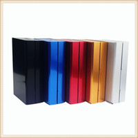 Wholesale rectangular cover - Hot Sale! Cigarette Box Creative Aluminum Alloy Cigarette Storage Case Holding 20pcs Cigarette with Automatic Elastic Cover Five Color A