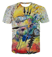 Wholesale Graffiti Colorful - New Arrive Colorful Uzumaki Naruto 3D T shirt Summer Men Women Graffiti Style Naruto Short Sleeve T-shirts Fashion Cool Tee Tops