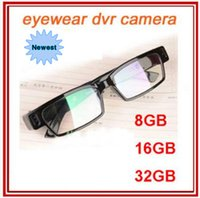 Wholesale Spy 16 - 8 16 32GB HD 1280*720P Super Mini DVR Slim Glasses Camera Eyewear Spy Sunglasses Cameras Hidden Camcorder Video Recorder