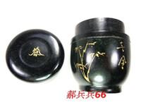 Wholesale Single Tea Pot - Jade coffee boxes, tea pot, qilian jade, black jade, jade, yuanyang origin, tea caddy, characteristic, gansu gifts,