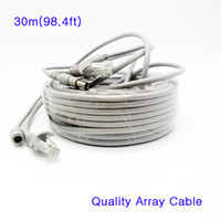 Wholesale Array Power - High quality 2 in 1 RJ45 Cat5e Array Network Cable & 12V Power Combine Combo Cable Integrated Line Wire 30 meters for IP Camera