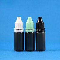 наборы доказательств оптовых-100 компл. / Лот 10 мл пластиковые капельницы черные бутылки саботаж доказательство крышки длинные тонкие советы LDPE E пара сигареты жидкость 10 мл