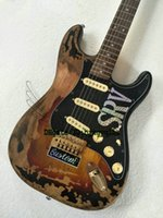 Wholesale Electric Guitar Sunburst St - Rare Guitar 10S Custom Shop Masterbuilt Limited Edition Stevie Ray Vaughan Tribute SRV Number One ST Electric Guitar Vintage Brown Wholesale
