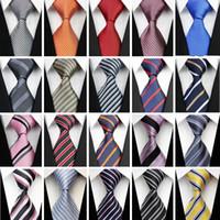 kravat seti hırka kol düğmesi toptan satış-Erkekler için toptan-Aksesuarları erkek Kravat Desen Desen Ipek Kravat Set Hanky Mendil Kol Düğmeleri Erkekler için Kahverengi Gri Beyaz Kravatlar 430
