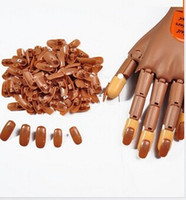 Wholesale Material Nail Tips - 100pcs pack Nail Trainer False Nail Tips PP Material Original Type Accessory For Practice Hand Free Shipping