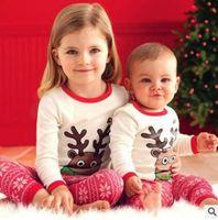 Wholesale Snowflake Clothing Baby - Christmas Pajamas Kids Baby Girls Christmas Outfits Sleepwear Girls Nightwear Xmas Santa Claus Elk Snowflake Baby Pyjamas Kids Clothing