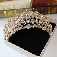Wholesale Accessories Art - 2017 Greek goddess art retro hair accessories bridal wedding jewelry wedding dress studio tiara crown molding