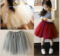 Wholesale Wholesale Ruffle Mesh Skirt - 2016 baby girls fashion tutu skirts children mesh tired ruffled skirt girl princess dresses kids candy color sweety summer fall dress