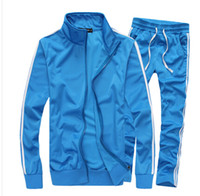 Wholesale Mens Sports Suits Slim - New Fashion Mens Sportswear, Male Casual Sweatshirt, Man Brand Sports Suit, Men Leisure Outdoor Hoodie Tracksuit!