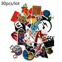 Wholesale Stickers For Walls Kids - Diy stickers posters wall stickers for kids rooms home decor sticker on laptop skateboard luggage wall decals car sticker 30 pcs
