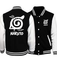 agasalho de beisebol venda por atacado-Atacado- 2017 venda quente anime Uzumaki Naruto camisolas konoha impresso unisex jaquetas de beisebol primavera outono tracksuits homens mulheres hoodies