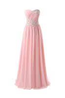 Wholesale Evening Dress Stock Sage - 2016 In Stock Real Sample Sweetheart Chiffon Evening Dresses Pleats Appliques Floor-length Bridesmaid Dresses Prom Dresses