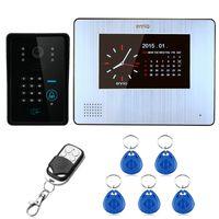 Wholesale Door Keypad Intercom - 7inch LCD 900TVL Color Video Door Phone Intercom Rainproof Night Vision with Record Keypad Remote Control Unlock