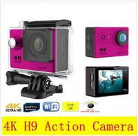 Wholesale Cheap Rock Climbing - Hot sale Original EKEN H9 4K Action Camera 2 inch LCD Wifi Shockproof Waterproof 12MP 2.7K 1080P 60fps Sports DV Helmet Cam Cheap DHL 5pcs