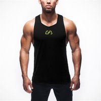 Wholesale Clothes Printing Equipment - Wholesale-2016 Brand Gym Shark Mens Tank Tops Stringer Bodybuilding Equipment Fitness Men's GYM Tanks Sports Clothes Gymshark