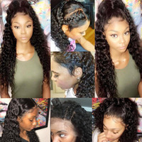 Wholesale Indian Hair Cap Wig - Pre Plucked 360 Lace Frontal With Wig Cap Brazilian Loose Deep Curly Frontal Natural Hairline 360 Lace Virgin Hair (18inch, Loose curly)