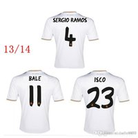 Wholesale Bale Clothes - 2013 2014 madrid retro soccer jerseys Top thai 3AAA quality custom name number Zidane RONALDO RAMOS BALE BENZEMA football shirts clothing