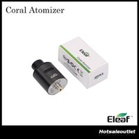 Wholesale clean coral - Authentic Eleaf Coral RDA Atomizer Detachable Structure for Easy Cleaning & Rebuildable & Reuseable for DIY Fun 100% Original
