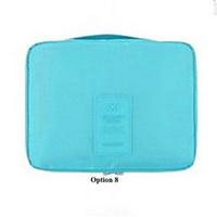 ingrosso borse da viaggio blu cielo-Sky Blue Travel Mate Bag Cosmetici Borse Storage Pouch Bag Viaggi Cosmetic Bag Organizer Borsa Zipper Makeup Bags