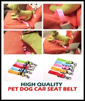Wholesale Hot Dog Clip - aaa hot 7 color Adjustable pet dog car seat belt pet safety LEADS Leash Clip