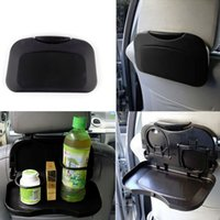 Wholesale Car Seat Travel Tray Table - Car Tray Food Car Stand Rear Seat Beverage Rack Water Drink Holder Bottle Travel Mount Accessory Foldable Meal Cup Table Seat Back Organizer