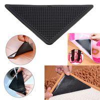 Wholesale Wholesale Slip Carpet Padding - 4Pcs lot Rug Carpet Mat Non Slip Skid Grippers Reusable Carpet Pad anti slip stick bath room mats YYA385