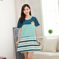 Wholesale Short Nightgowns For Women - Wholesale-MUYOS Brand 2016 New Summer Women Sleepwear Cotton Print Sexy Sleeping Dress Nightgown For Ladies Women's Home Clothes