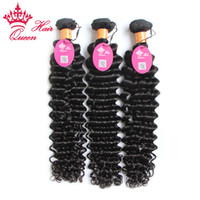 """Wholesale 12 16 Indian Wave - Queen Hair 3pcs lot 100g pc 100% Indian virgin hair extension Deep wave hair 12""""-28"""" Can be dyed and Bleached"""