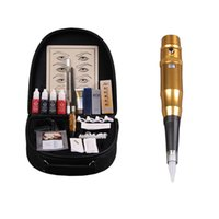 Wholesale tattoo gun kits for sale - High quality Eyebrow Tattoo Machine set For Tattoo Worker Complete Tattoo kit For Eyebrows Permanent Eye Makeup