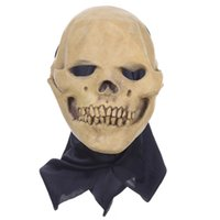 Wholesale latex head costumes online - New Fancy Dress Party Cosplay Costume Mask Horrifying Skull Monster Adult Latex Masks Full Head Breathable Halloween Masquerade