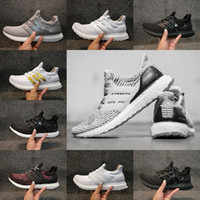 2017 Big size Ultra boost 3.0 4.0 Triple Black Running Shoes Homens Mulheres Core Black White sport outdoor tênis tamanho 36-47