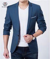 ingrosso abbigliamento di qualità-Blazer da uomo di qualità all'ingrosso-elegante Giacche da uomo Giacche da uomo Casaco Terno Masculino Suit Cardigan Jaqueta Abiti da sposa per uomo