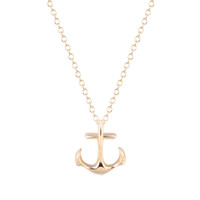 Wholesale gold clothing accessories - 10pcs lot Silver Anchor Necklace Pendant Gift for Girls Wholesale Jewelry Christmas Gifts Womens Clothing Accessories