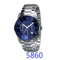 Wholesale Ceramic Clocks - Hot New AR5860 AR5869 Men Watches Top Brand Luxury Business Waterproof Sport Chronograph Quartz Man Wrist Watch Male Clock Relogio Masculino