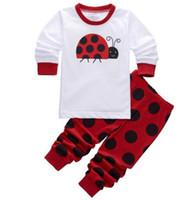 Wholesale Boy Pyjamas Cartoon - Children Pajama Set Boy Clothing Set 2-7 Years Kids Cartoon Ladybug Pijamas Sets Boys Sleepwear Kids Pyjama Baby Clothes