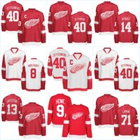 hockey jerseys datsyuk NZ - Youth Detroit Red Wings Jersey 40 Henrik Zetterberg  71 Dylan Larkin 4161523b9