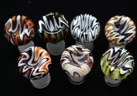 Wholesale 18mm female dome resale online - In stock Wig Wag Heady Pipes Glass Dome Colorful mm mm Female Bowl Glass Bongs Bowl Dome