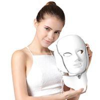 Wholesale Facial Massage Mask - 7 in 1 LED Infrared Light Therapy LED Facial Mask Skin Rejuvenating Mask Face Lift Whitening Tightening Facial Massage Mask