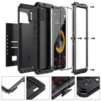 Wholesale Metal 4s Phone Cases - Waterproof Dropproof Dirtproof Shockproof Phone Case for iPhone 4 4s 5 5s 5c 6 6s 4.7 plus Back Metal Cover