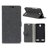 Wholesale Zte Flip Cell - ZTE Grain Line Phone case TPU Flip Cover Card Slot Wallet Cell Phones Cases for AXON 7 MINI Max BLADE 8 Plug-in card Back Cover OPP Bag