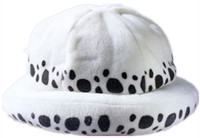 Wholesale Women Costumes Doctor - Japanese Anime One Piece Cosplay Costume Hat Trafalgar Law 2 Years Later White Hats Warm and Cute cap Cosplay Doctor law Hat