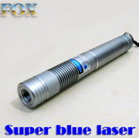 Wholesale Laser Pointer Ignite - FOX-B50 real powerful Blue laser pointer Silver shell high power 450nm laser defense field indicating lighting a match to ignite fireworks