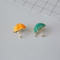 Wholesale Girls Enamel Jewelry - Umbrella Brooches for Women & girls color metal Brooches New design gold plated alloy umbrella Brooches pins Fashion Jewelry for gifts